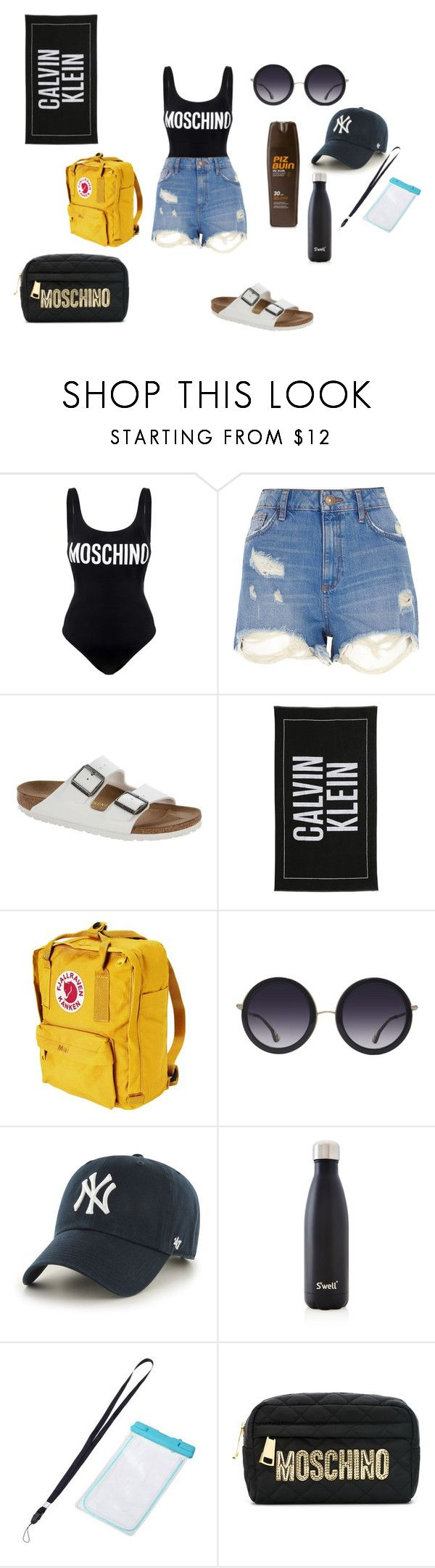 """""""...."""" by kkristinss on Polyvore featuring Moschino, River Island, Birkenstock, Calvin Klein, Fjällräven, Alice + Olivia, '47 Brand and S'well"""