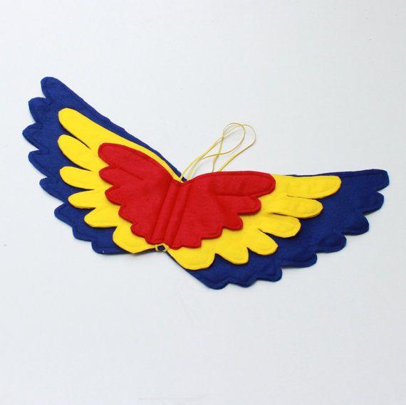 Parrot Wings  Felt Wings   $35 Handmade felt wings  by BloomsNBugs