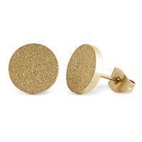 Gold Diamond Dust Stud Earrings