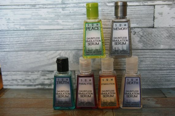 Divergent Inspired Party Favors - 6 mini hand sanitizers on Etsy, $18.00