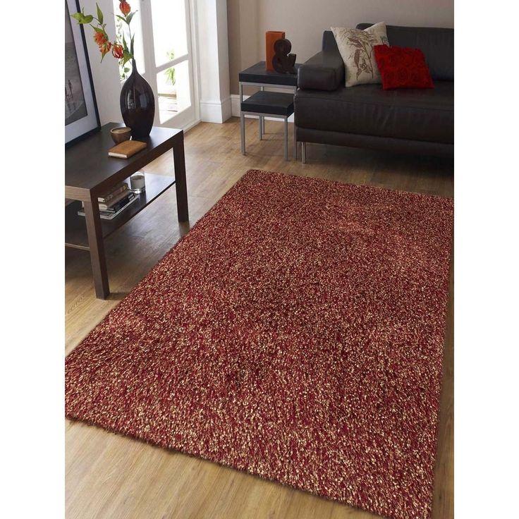 confeiti red shag rug 2u0027 x 3u0027 red size