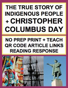 Columbus: The True Story: QR Code Fun! Columbus True Story: If Columbus never discovered America, what did he do?! Learn the true story of Columbus Day with these Columbus day classroom activities. Now known as indigenous people's day. Unlike other columbus activities, this Columbus Day Lesson is for culturally responsive classrooms ad teaches the true story of columbus use for english or social studies lessons #indigenouspeoplesdayactivities
