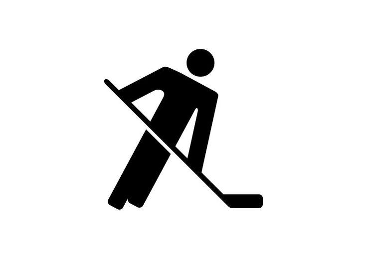 Hockey Player Pictogram Icon