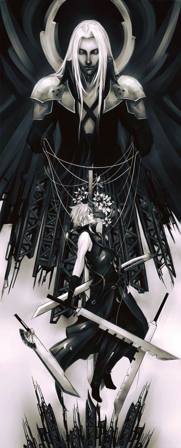 Sephiroth and Cloud, Final Fantasy VII