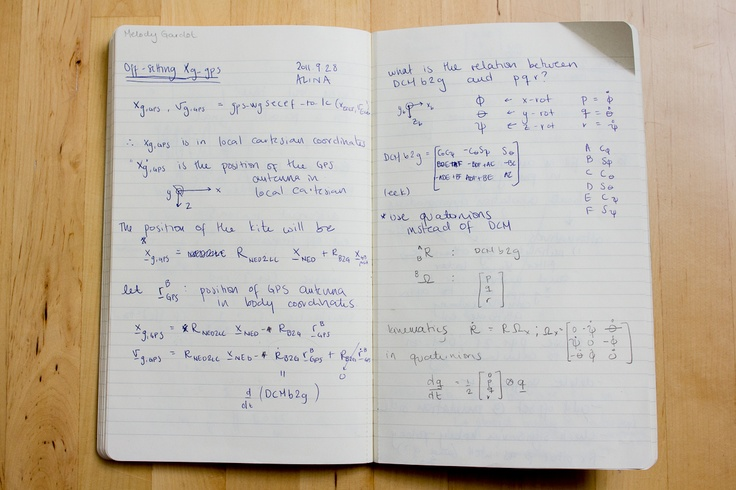 A page from Dr. Paula Echeverri's notebook