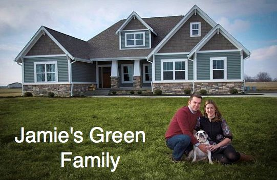 Jamie's Green Family: Jamie Green, Color Schemes, House Color, Green Side House, Green Families, Color Ston, House Colour, Naked House, House Exterior