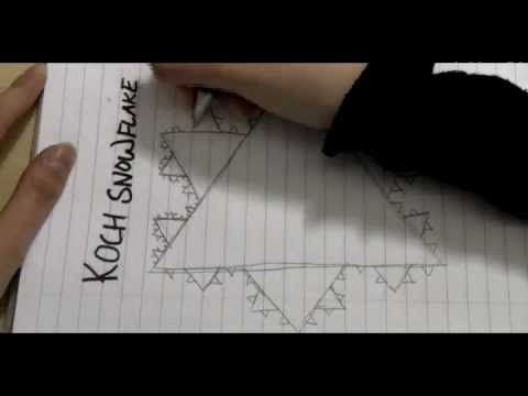 Doodling in Math Class...Triangle Party...I love the Koch Snowflake!