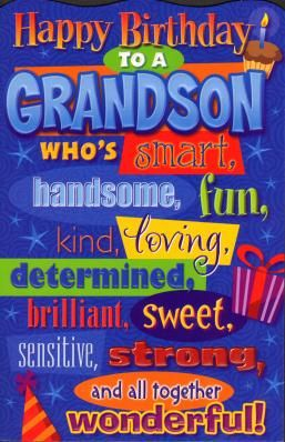 grandson birthday wishes | Image for Happy Birthday Grandson Birthday Card