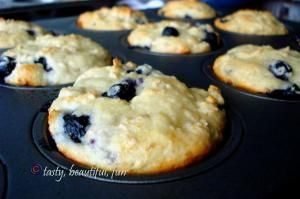 blueberry greek yogurt muffins