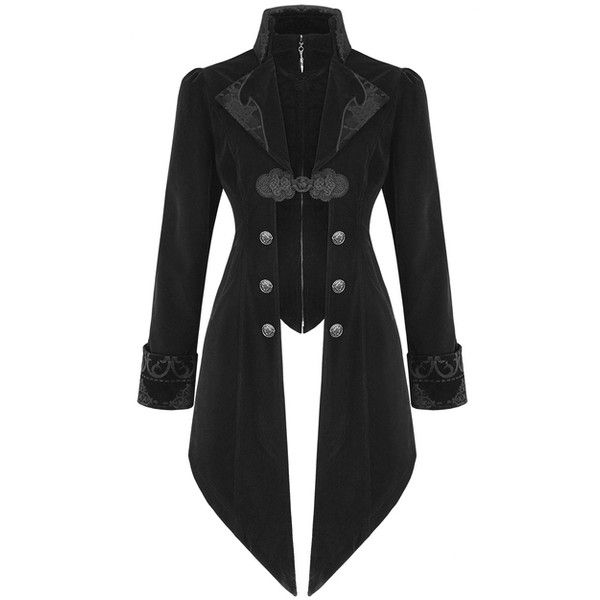 DEVIL FASHION WOMENS LANNISTER JACKET BLACK Violent Delights ($110) ❤ liked on Polyvore featuring outerwear, jackets, gothic jackets, velvet jacket, velvet gothic jacket, goth jacket and steampunk jacket