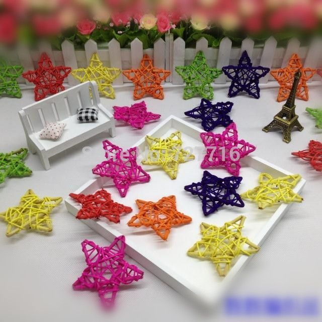 Find More Other Holiday Supplies Information about Free shipping  Mixed Color 7cm Rattan five pointed star Christmas tree ornament 20PCS/LOT,High Quality easter events,China egg steamer Suppliers, Cheap easter egg box from Beauty & Good Crafts Co.,Ltd on Aliexpress.com