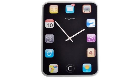 ¡Este reloj de cristal, utiliza los símbolos iPhone para representar las cifras que indican la hora !