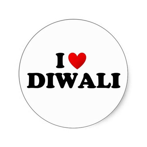 I love diwali stickers