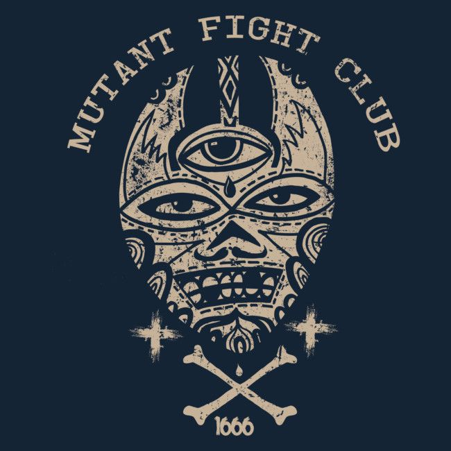 Mutant Fight Club is a T Shirt designed by wotto to illustrate your life and is available at Design By Humans
