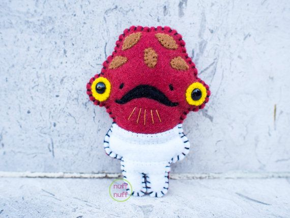 Felt Admiral Ackbar  Pocket Plush toy by nuffnufftoys on Etsy, $15.00