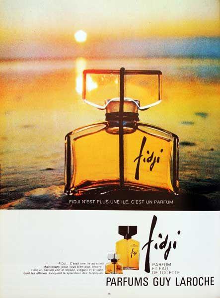 """Parfum Fidji - Guy Laroche """"la femme est une île; Fidji est son parfum"""""""