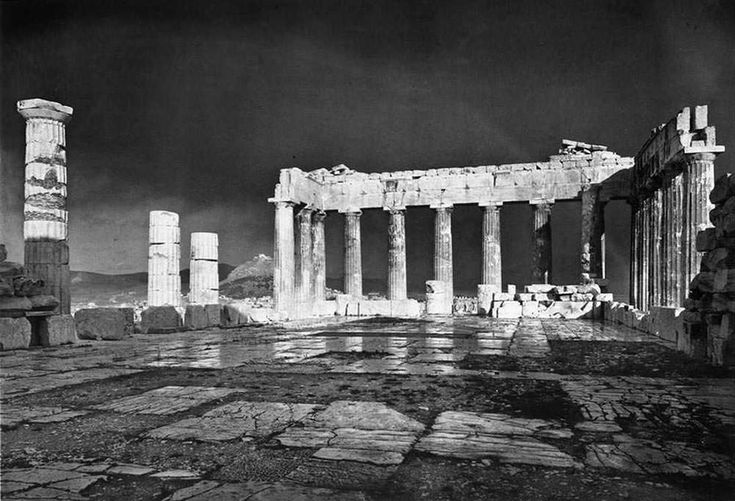 Greece old photos - Parthenon at 1908