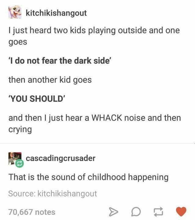 The sounds of childhood happening