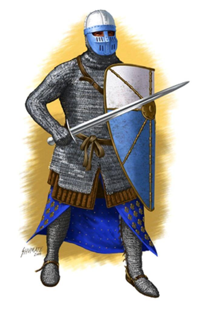 Французский крестоносец 12 в. ~ Interesting layers of clothing, padding, and armor