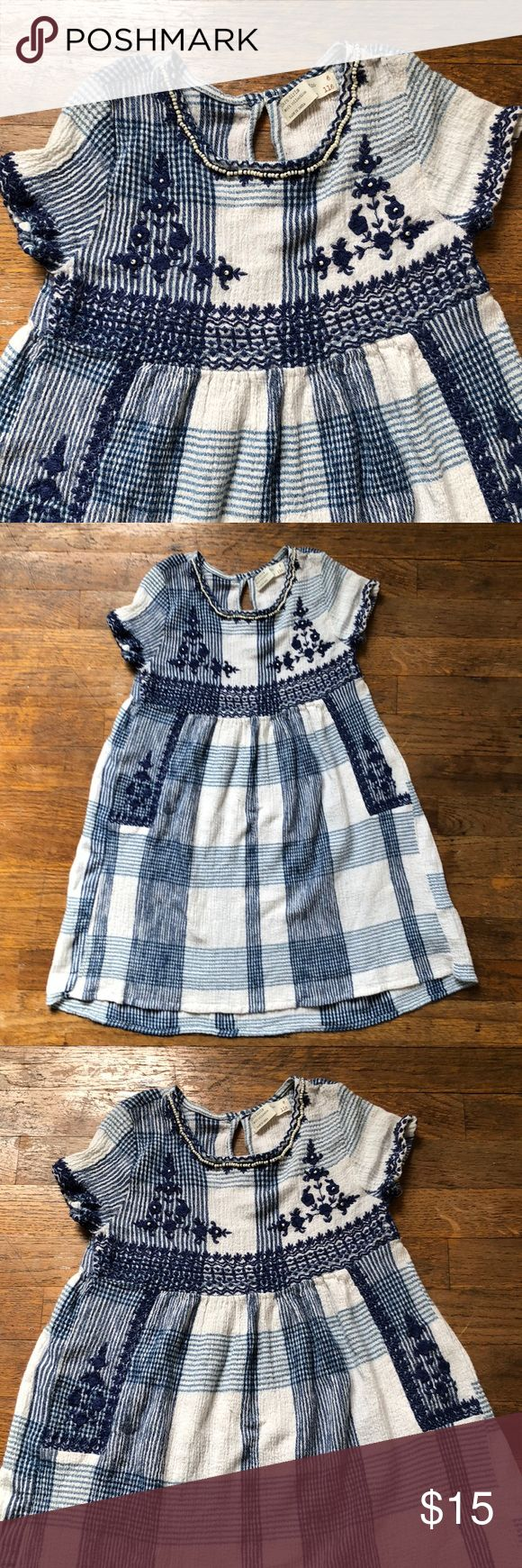 Zara Girls Dress Size 6 Preowned no stains no tears embroidery, beaded, Zara Dresses
