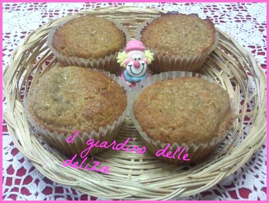 Muffin integrali con cioccolato