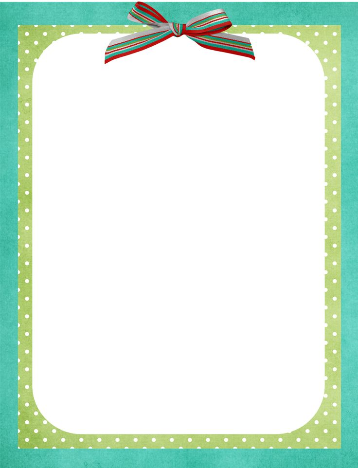 Free Border Template All Things Nice Pinterest Border