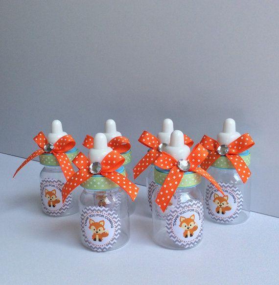 12 Fox baby shower baby bottles fox baby by Marshmallowfavors