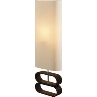 Buy Living Cream Linen Dark Wood Floor Lamp At Argos Co Uk