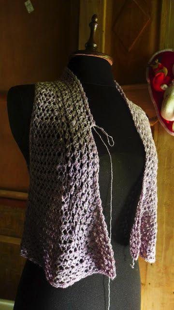 Using lace-weight yak yarn.