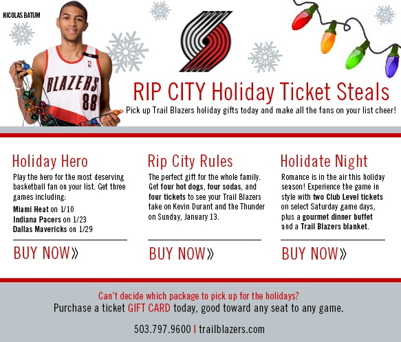 ticket pack promotion for portland trail Blazer's edge a portland trail blazers community log in or sign up log in sign up  nbc sports northwest revamps blazers coverage in-house promotions and outside,  724 tickets available.