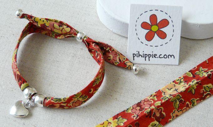 Pulseras con cinta de algodón Liberty London http://www.pihippie.com/p/blog-page_25.html