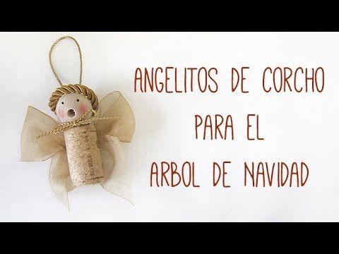 Navidad: Como Hacer Angeles De Corcho