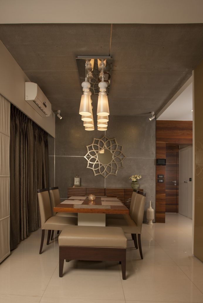 Dining Space View Beside Entrance Foyer Decorated With Different Classy Elements Wooden Table And