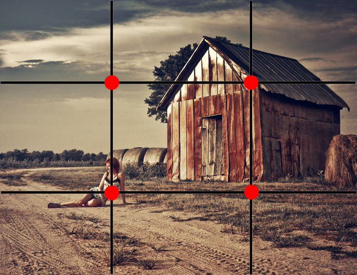 Regla de los tercios #composición The Rule of Thirds | Pretty Presets for Lightroom:
