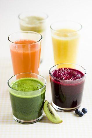 I frullati nei 5 colori del benessere