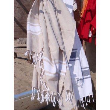 Bardzo długi bawełniany, ręcznie tkany, delikatny ręcznik. 100x185 cm