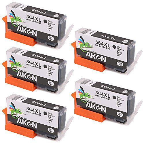 5 Black Compatible Ink Cartridges Replacement for HP 564XL High Yield Replacement for HP Photosmart 5520 6520 7510 7520 7515 C6380 C310a #Black #Compatible #Cartridges #Replacement #High #Yield #Photosmart