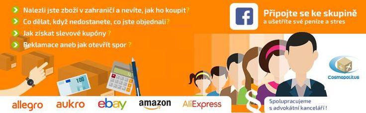 Připojte se ke skupině a ušetří své peníze a stres https://www.facebook.com/groups/326962117721488/ Nalezli jste zboží v zahraničí a nevíte, jak ho koupit? Co dělat, když nedostanete, co jste objednali Jak získat slevové kupóny  Reklamace aneb jak otevřít spor  Spolupracujeme s advokátní kanceláří #Aukro #Allegro #Amazon #Ebay #Aliexpress
