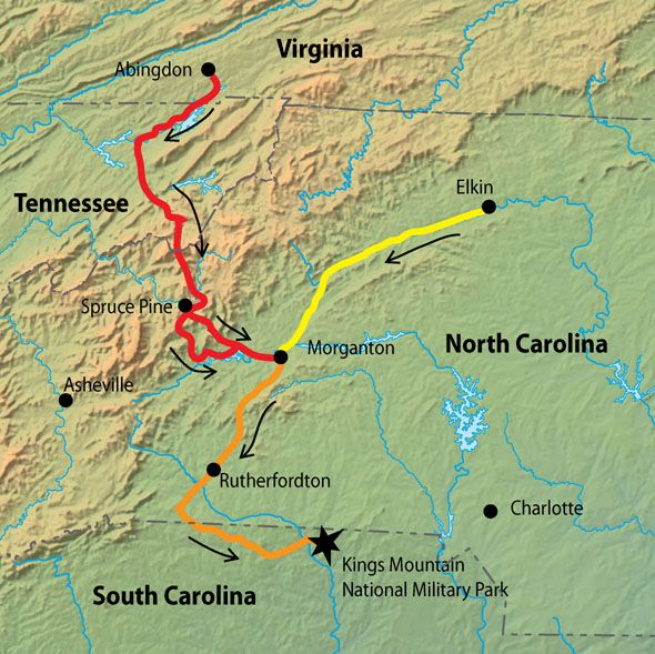 Route of the Overmountain Men