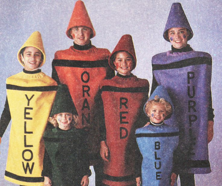 Crayon Costume Pattern Soda Can Beer Can Matching Halloween Costumes Pattern McCalls 3887 P946 Bust Chest 32.5 to 34 Inches UNCUT by TheOldLeaf on Etsy