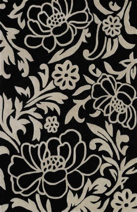 "3'6""x5'6""Floral Prints, Gray Rugs, Floral Rugs, Area Rugs, Dalyn Rugs, Rugs Search, Wool Rugs, Rugs Usa, Black"