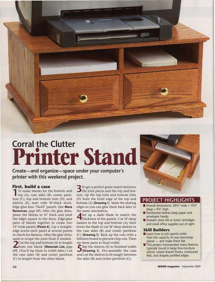 Printer Stand DIY plan
