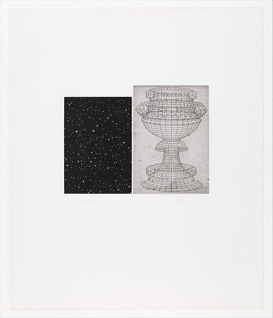 Vija Celmins (American, born Riga, Latvia, 1938). Constellation - Uccello, 1983. Aquatint and etching. The Metropolitan Museum of Art, New York. John B. Turner Fund, 2002  (2002.55) | ©2010 Vija Celmins. #CosmicWonders #MetonPaper100