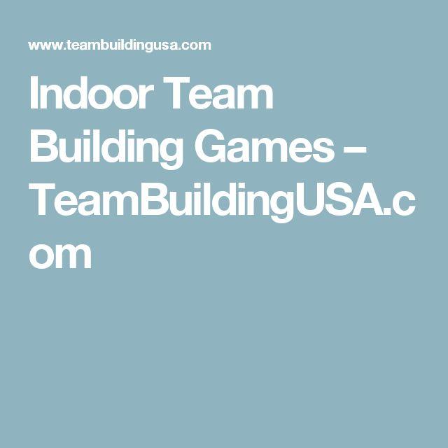 Indoor Team Building Games – TeamBuildingUSA.com