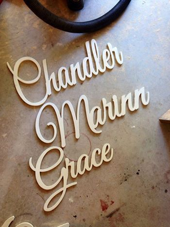 4 inch up to 36 inch unfinished wood letter in any font