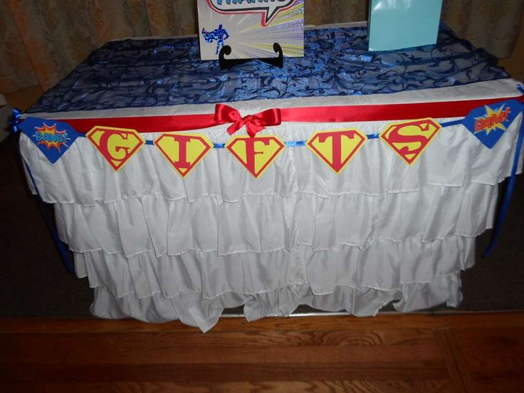 Superman Baby Shower Party Ideas | Photo 27 of 35 | Catch My Party
