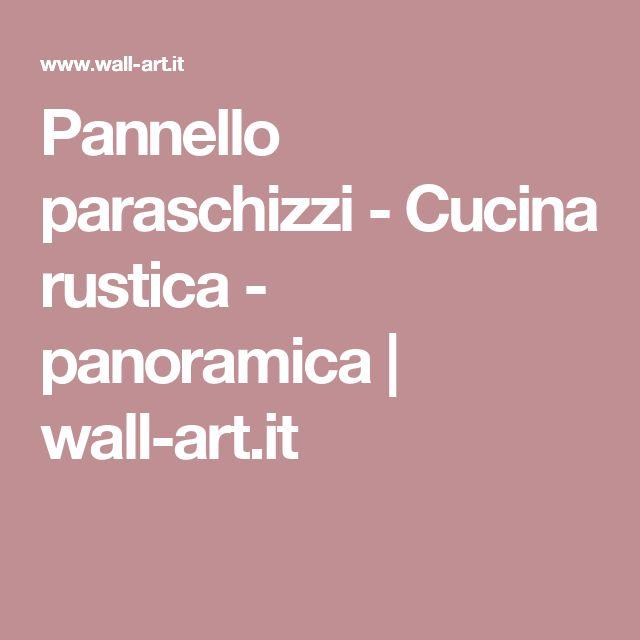 Pannello paraschizzi - Cucina rustica - panoramica | wall-art.it