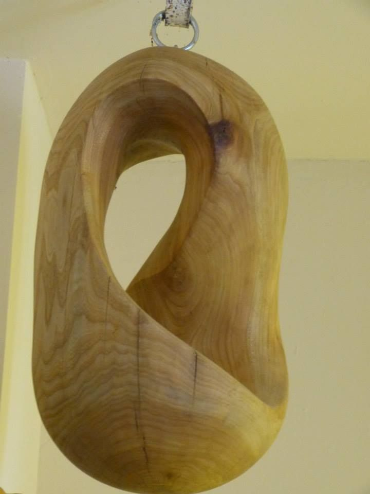 Möbius, 60x33x33, made in 2011, from elmwood.