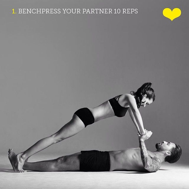 ❤ Couples Workout ❤ - Bench press your partner 10 times! Couples that train together, stay together