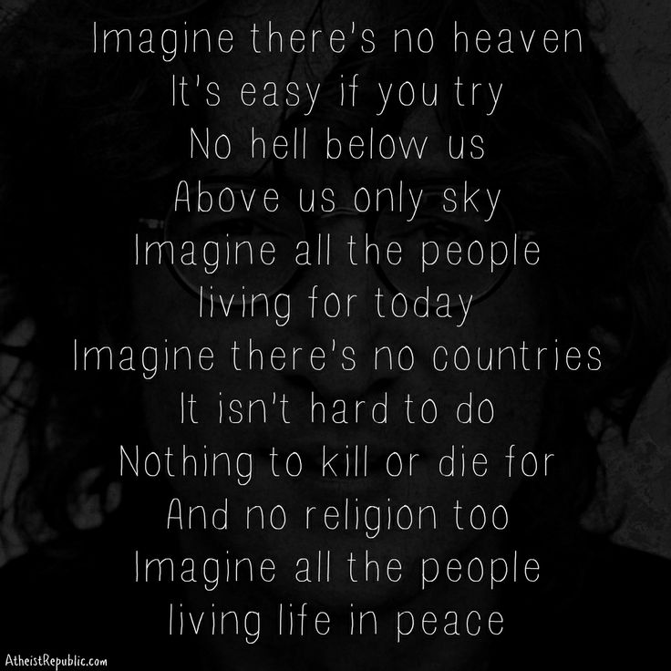 John Lennon: Imagine there's no religion